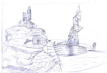 Futuristic Aztec scenery by Dao128