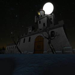 Spooky castle by Dao128
