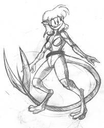 Doodle Alien girl by Dao128