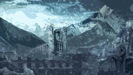 Tundra Photobash (Skyrim inspired) by trinnychops