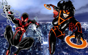 Spiderman and Spider-Woman by DemoniconNemesis