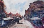 Speedpainting streetscape by StuartShields