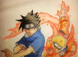 Sasuke Vs Naruto by IdusMartius