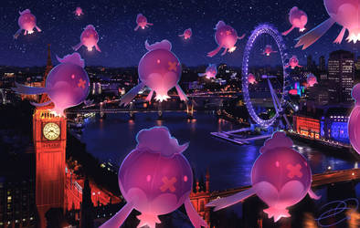 Lights Over London by DenaJarawr