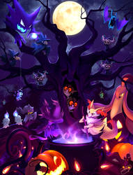 Pokemon Halloween 2016 by DenaJarawr