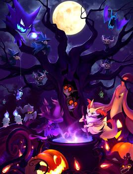 Pokemon Halloween 2016 by DenaJarawr