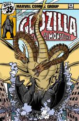 Mock 70s Godzilla comic cover by Latitudezero