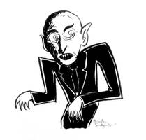 Inktober 2018 Day 8: Nosferatu by rachetcartoons