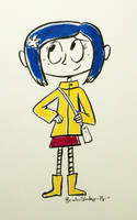Inktober 2018 Day 14: Coraline by rachetcartoons