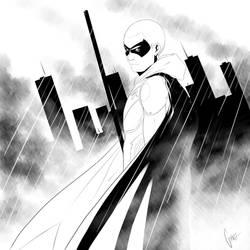 Arkham Knight-Robin by 0theghost0