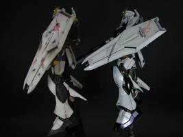 HGUC Nu Gundam Side View by GameraBaenre