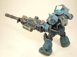 HGUC Gouf Custom right side by GameraBaenre