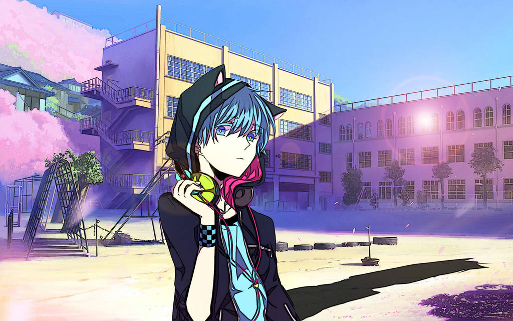 Anime Neko Boy Wallpaper By Letfio On Deviantart