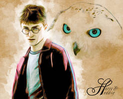 Harry And Hedwig Fanart by jennaikikz