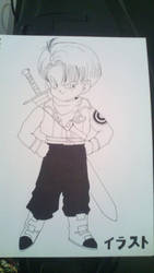 Kid Trunks in Future Trunks clothes by Brinx-dragonball
