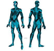 Blue Suit - Spider-Man Fusion by MaverickTears
