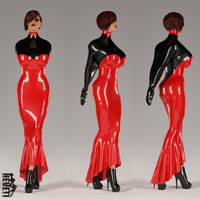 Tina Armbinder Evening Dress (red) by heveti