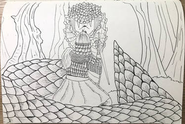 Inktober 2018 Day 10 The Snake by OrionMagnus