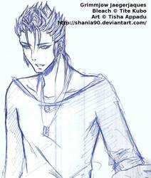 Sketch: Grimmjow Jaegerjaques by ShaniNeko