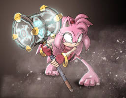Amy Rose Redesign by BubblesRRJ