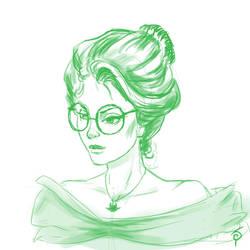 Gibson Girl Jade sketch by saret