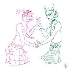 Rose/Kanaya flapper girls by saret