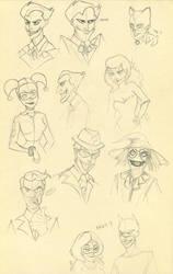 Batman villains by YONXI