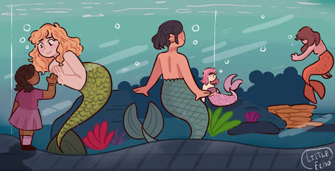 Mermaid Aquarium  by LittleEchoArtist