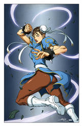 Chun Li Inks By Alvin Lee and Devgear by VPizarro626