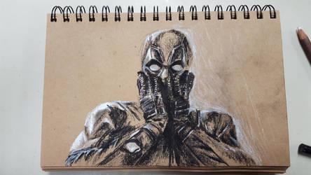 Deadpool Sketchbook in Charcoal by Jackomack