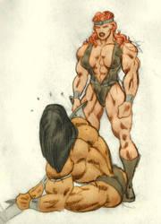 Red vs Conan - XIV by Musclelicker
