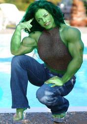 Mavi Gioia She-Hulk 5 by Musclelicker