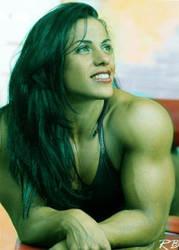 Mavi Gioia She-Hulk 8 by Musclelicker