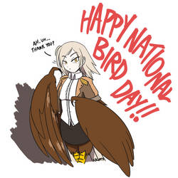 (Late) National Bird Day by PurpleKama