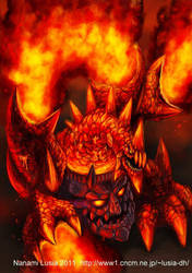 Lava golem Dragon by LusiaNanami