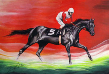 An American racehorse, Ruffian by LusiaNanami