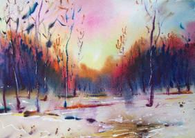 Winter sun by Lukyanovart