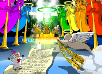 The Seven Trumpets of the Apocalypse by superNow