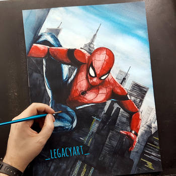 Spiderman from Homecoming  by LegacyArt86