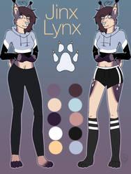 Jinx Lynx-Ref sheet by Pinkwolfly