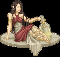 Ekyra, Goddess of Gravity by lithriel