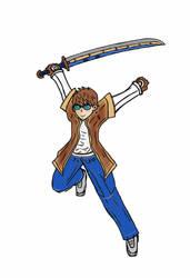 Dom Sword Action Jump! by Ian2410