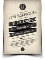 Vintage Flyer / Poster 2 by BlueMonkeyLab
