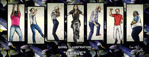 Song Illustration_Brave by Xyncomix