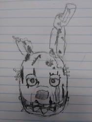 Springtrap Head by LittleMimikyu