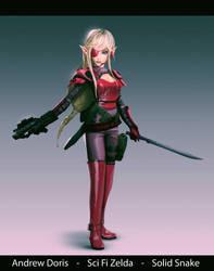 Metal Zelda Princess Snake v02 by AndrewDoris