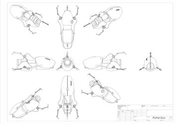 Portal gun drawing by bevbor