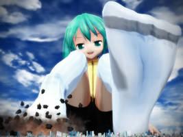 Huge Miku-chan's socks by Kingklon
