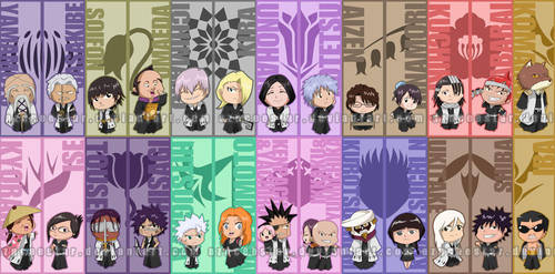 Chibi Gotei 13 bookmarks by AznCeestar