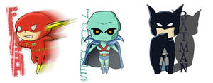 Justice League chibis by AznCeestar